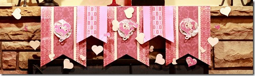 Hearts a Flutter mantel decor cu