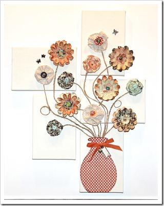 Canvas Flower Bouquet