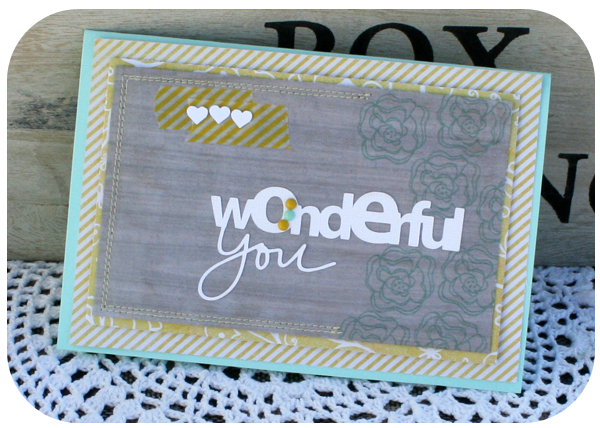 Mme wonderful you card danni reid