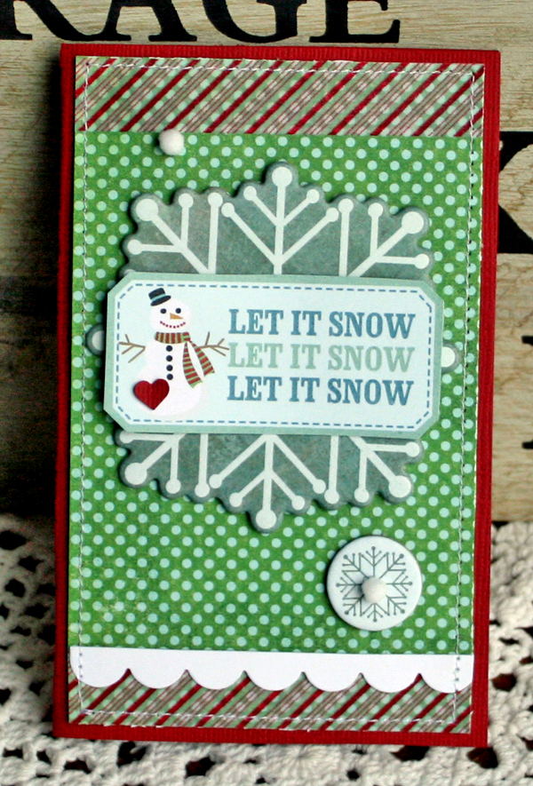 Let it snow card danni reid
