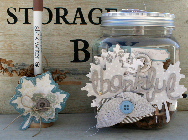Thankful jar set and pen danni reid