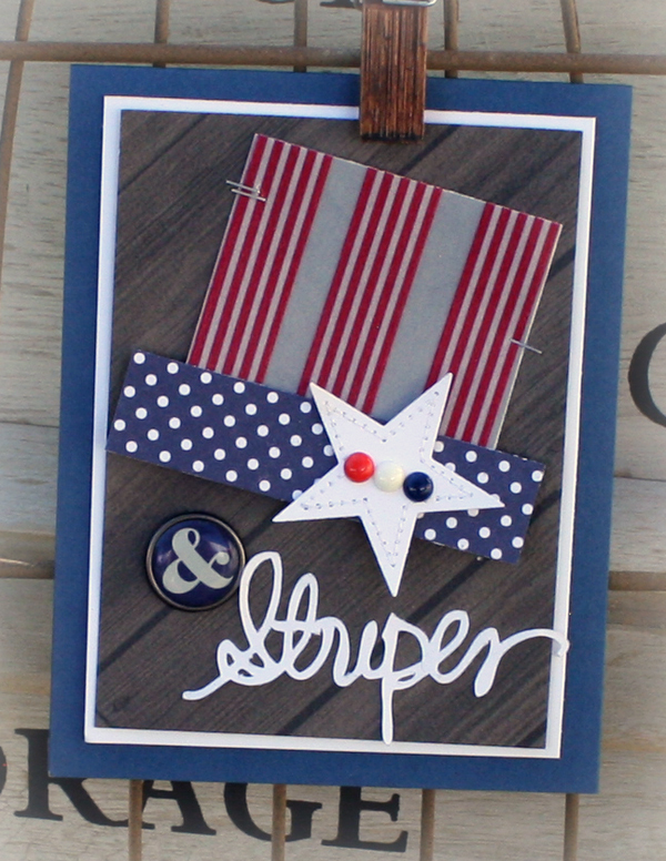 Star and stripes card danni reid