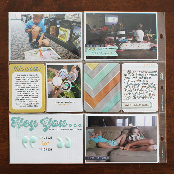 Shelly Jaquet for MME #projectlife #scrapbooking
