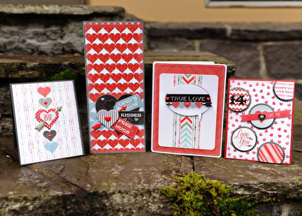 Cupid's Arrow Valentine's cards // via My Mind's Eye