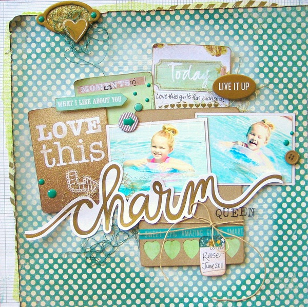 Missy Scrap Green Layout