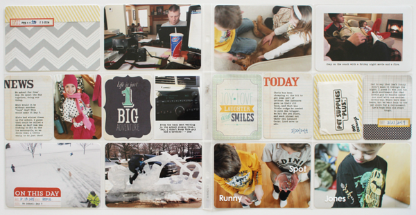 Shelly Jaquet 2 page Spread for MME #projectlife