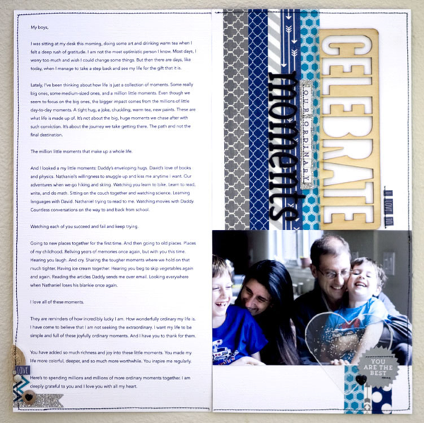 Karen Grungberg for MME #layout #scrapbooking