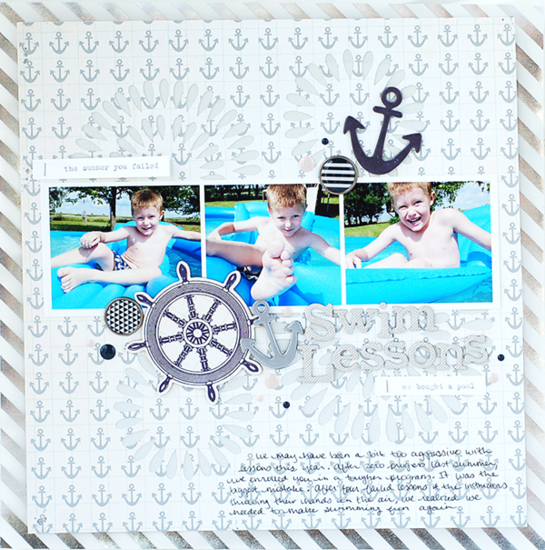 #scrapbook #layout by Valerie O'Neall for MME