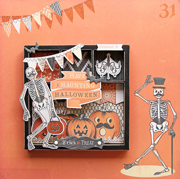 Tina Walker for MME #halloween #chipboard