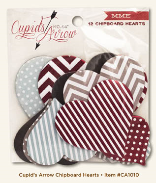Cupids Arrow Chipboard Hearts copy