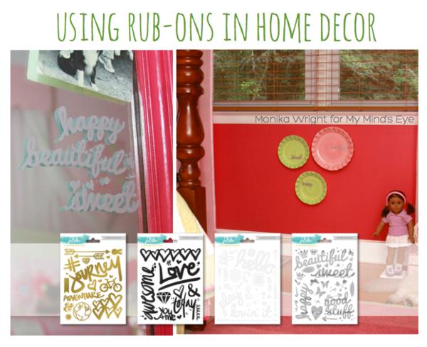 Monika Wright for MME // using #rubons in #homedecor