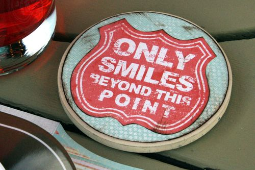 Party Set Smiles Coaster